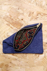 Reworked Levi's Denim Pouch - Blue - Loot Vintage