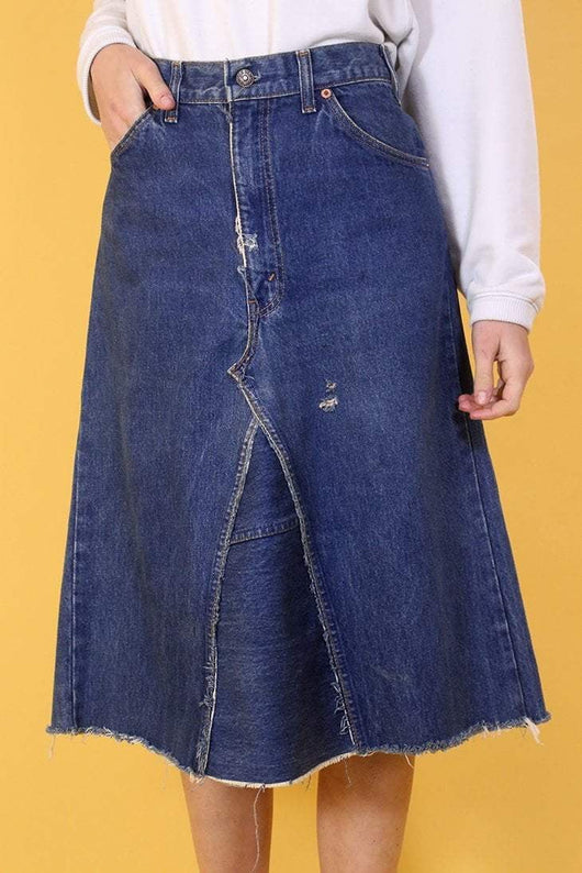 Levis Skirt Vintage Levi's Denim Midi Skirt