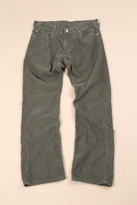 Levis Trousers 33W / Green Vintage Levi's Straight Leg Cords