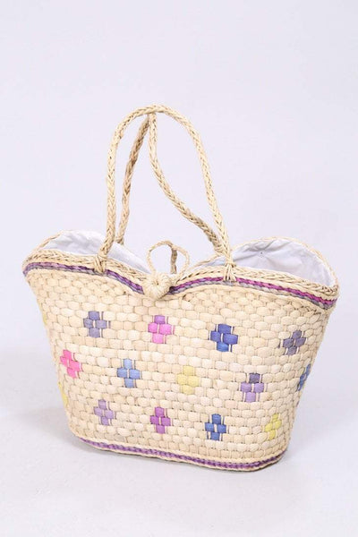 Loot Vintage Bag Beige Vintage Straw Shopper Bag