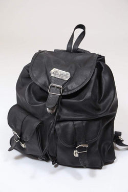 Loot Vintage Bag Black / Leather Women's Leather Backpack - Black