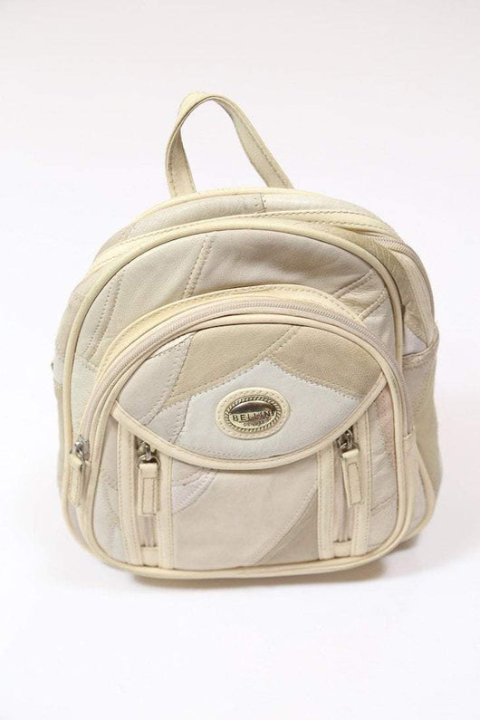 Women's Leather Backpack - Cream