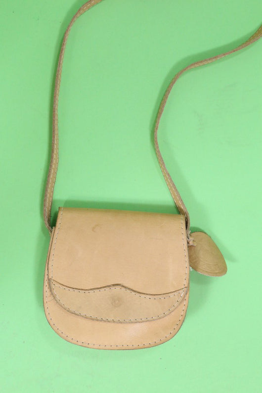 Loot Vintage Bag Tan Leather Cross Body Bag