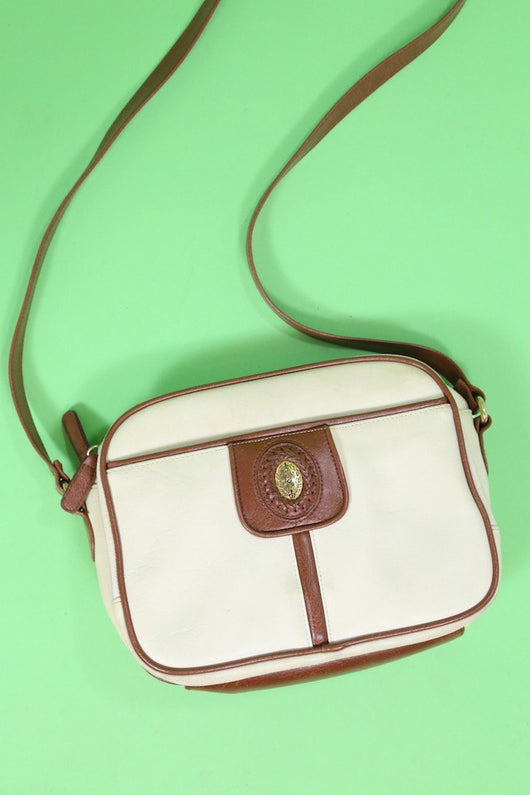 Loot Vintage Bag Vintage Cream Leather Cross Body Bag