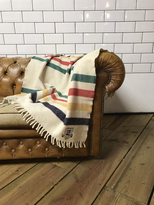 Loot Vintage Blanket Vintage Striped Wool Blanket