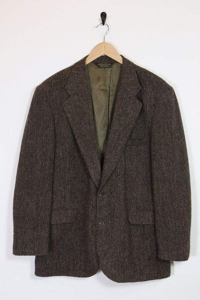 Men's Harris Tweed Blazer - Brown XL