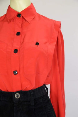 Loot Vintage Blouse Women's 80s Blouse - Red S