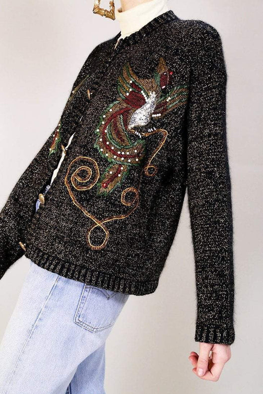 Loot Vintage Cardigan 12 Embroidered Cardigan