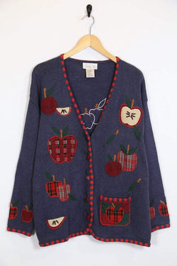 Loot Vintage Cardigan Vintage Knitted Apple Cardigan