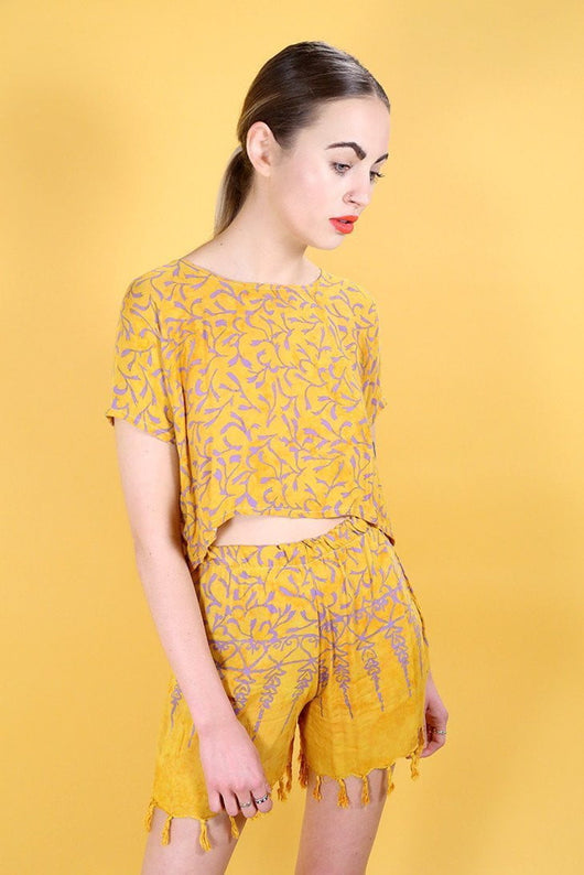 Loot Vintage Co-Ord 10 / Yellow Vintage Reworked Ethnic Co-ord