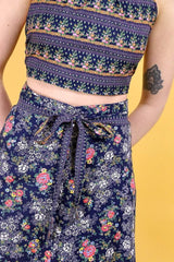Loot Vintage Co-Ord 8 / Navy Vintage Reworked Floral Fusion Co-ord