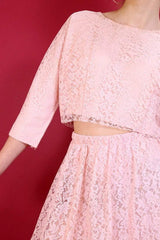 Loot Vintage Co-Ord Pastel Pink Lace Co-Ord