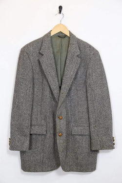Men's Harris Tweed Blazer - Grey L