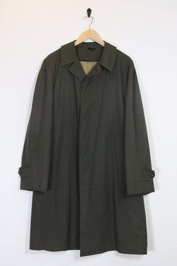 Loot Vintage Coat Graphic Check Duster Coat