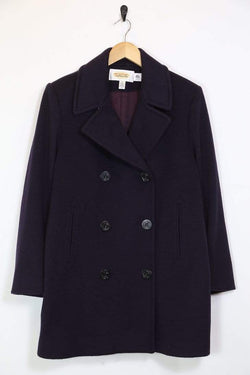 Loot Vintage Coat L / Blue / Wool *Women's Wool Coat - Blue L