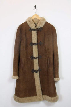 Loot Vintage Coat Sheepskin Sherling Lined Coat