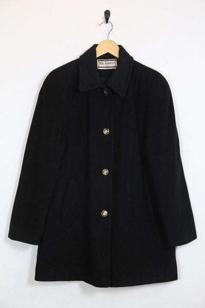 Loot Vintage Coat Vintage Black Wool Mackintosh Coat
