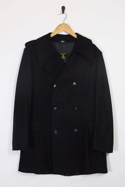 Loot Vintage Coat Vintage Black Wool Pea Coat