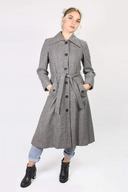 Loot Vintage Coat Vintage Striped Tench Coat