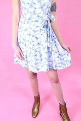 Loot Vintage Dress 10 / White Sky Floral Dress