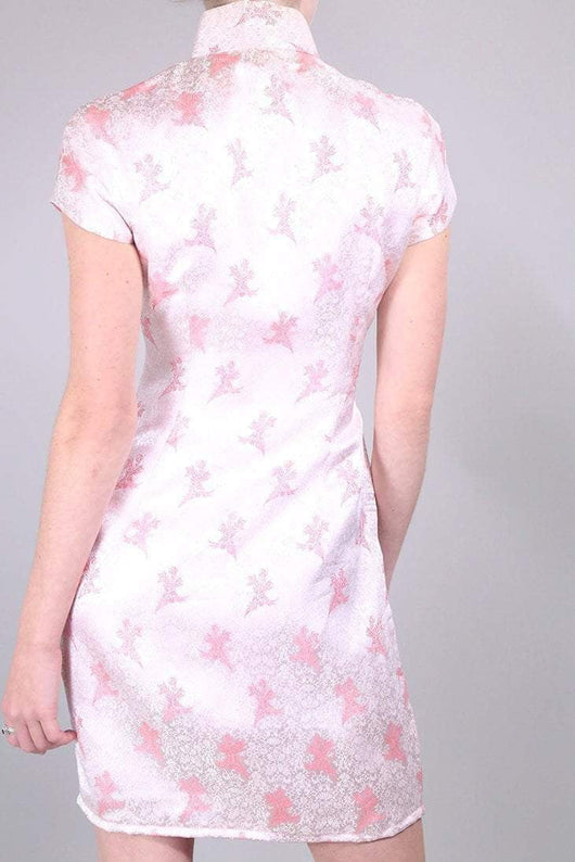 Loot Vintage Dress 8 / Pink Flamingo Cheongsam Dress