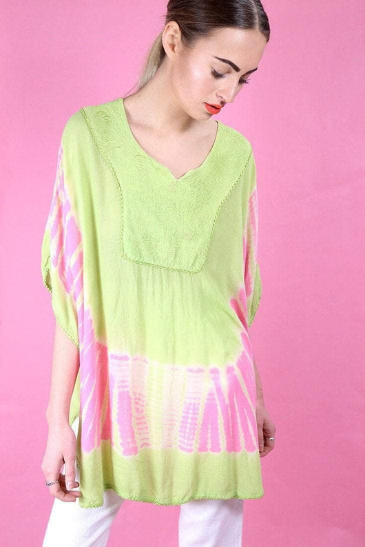 Loot Vintage Dress One size / Green Lime Pastel Poncho