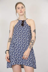 Loot Vintage Dress S / Blue Women's 90's Strappy Dress - Blue S