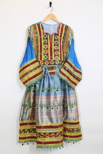 Loot Vintage Dress Vintage Mirror Embroidered Dress