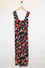 Loot Vintage Dress XS / Black / Rayon Women's Floral Dress - Black XS