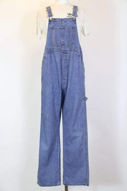 Women's Blue Denim Dungarees - Blue L