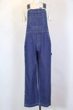 Women's Blue Denim Dungarees - Blue M