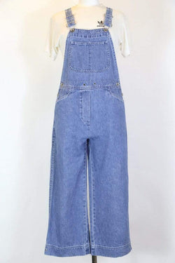 Women's Blue Denim Dungarees - Blue S