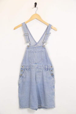 Loot Vintage Dungarees S / Blue / Cotton Womens Denim Dungarees - Blue S