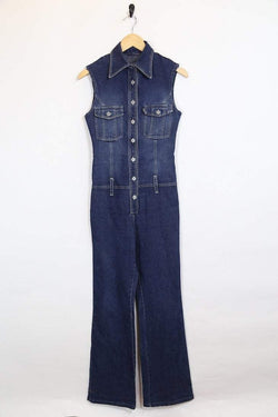 Loot Vintage Dungarees S / blue / cotton Womens Vintage Dungarees - Blue S