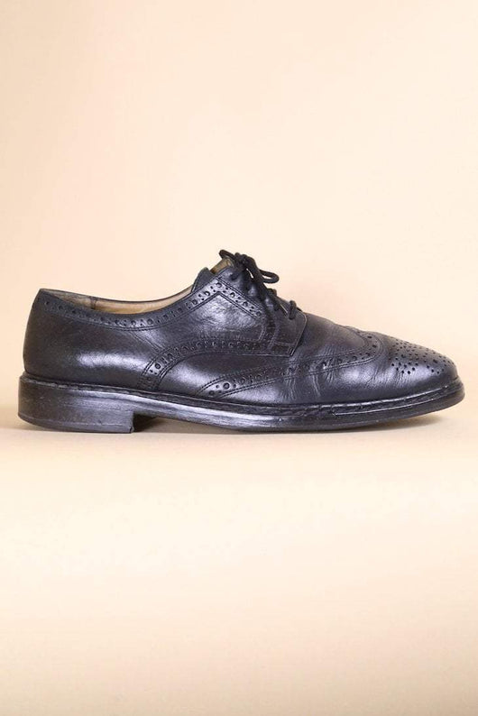 Loot Vintage Footwear Black Leather Brogues