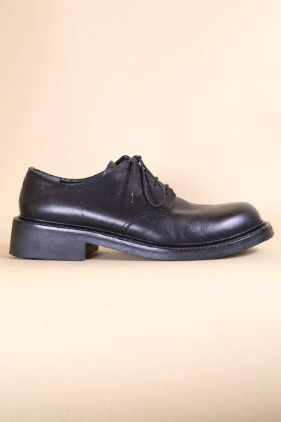 Loot Vintage Footwear Black Leather Shoes