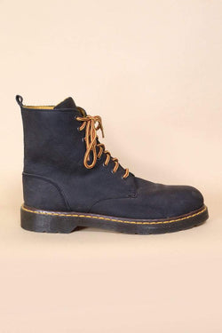 Loot Vintage Footwear Black Workwear Boots