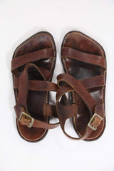Loot Vintage Footwear Vintage Brown Leather Sandals