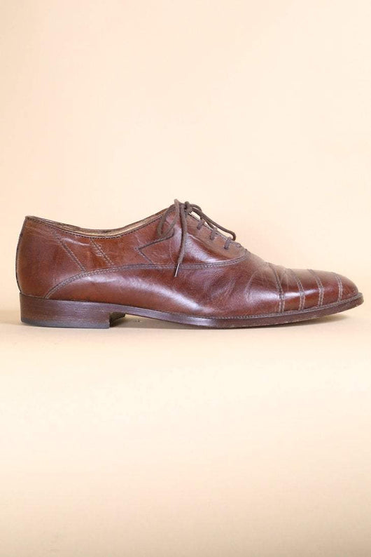 Loot Vintage Footwear Walnut Leather Brogues
