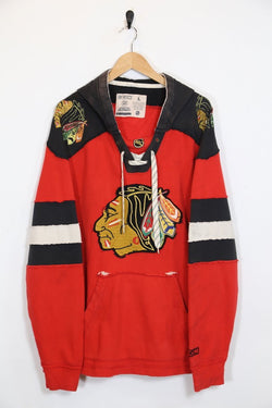 1990s Men's NHL Hoodie - Red L