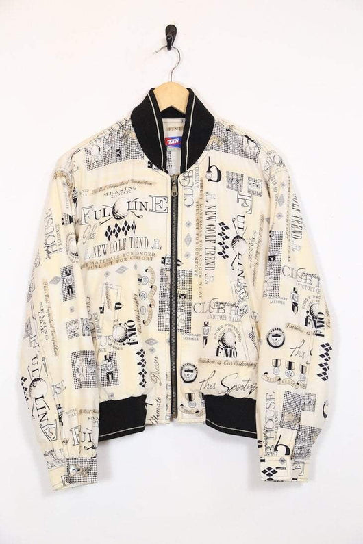 Loot Vintage Jacket 10 / White Vintage Golf Bomber Jacket