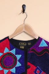 Loot Vintage Jacket Chevron Shapes Tapestry Jacket