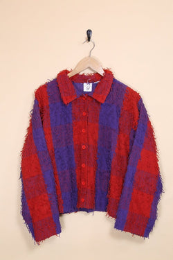 Loot Vintage Jacket Fringed Tapestry Jacket