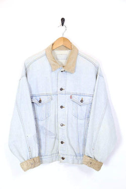 Men's Levi's Cord Collar Denim Jacket - Blue L