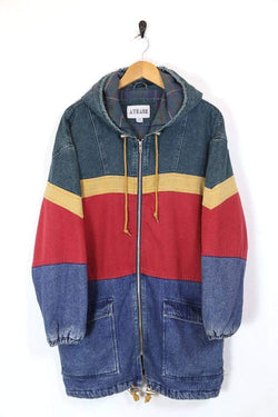Men's Hooded Denim Jacket - Multi L