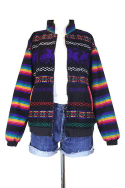 Loot Vintage Jacket L / Multi Women's Striped Tapestry Jacket - Multi L