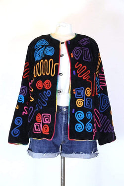 Loot Vintage Jacket L / Multi Women's Swirl Pattern Tapestry Jacket - Multi L