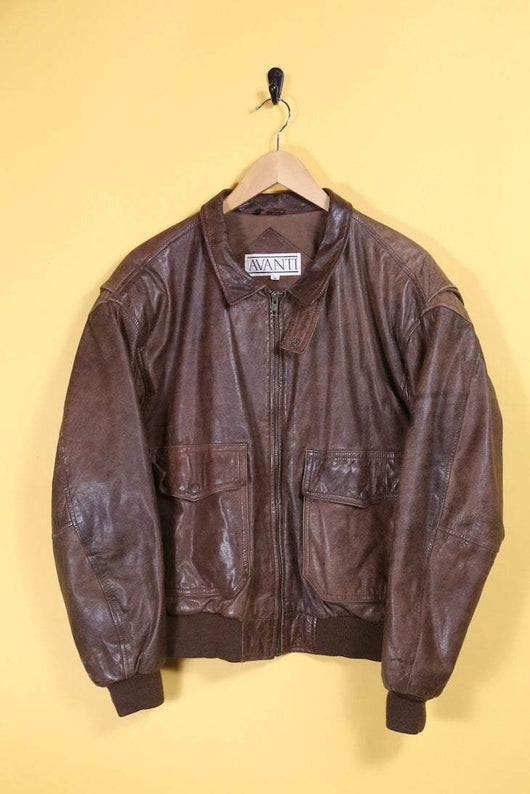 Loot Vintage Jacket Leather Bomber Jacket