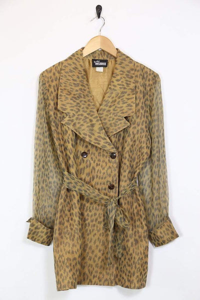 Loot Vintage Jacket M / Brown / Polyester *Women's Leopard Print Jacket - Brown M