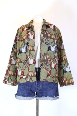 Loot Vintage Jacket M / Multi Women's Horse Tapestry Jacket - Multi M